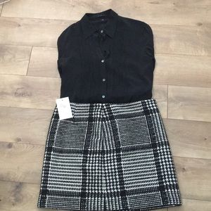 Theory plaid skirt new with tags size 12